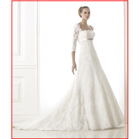 Free Shipping Lace Sleeve Lace A-line Wedding Dress, Bridal Gowns 2015 BRANDIE