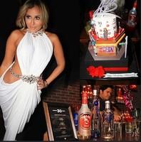 2014 New Fashion Women Sexy Party Evening Dress Backless White Bodycon Bandage Dress Halter Novelty Long Dress