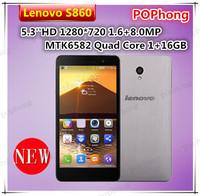 Original cell phones lenovo s860 5.3 inch HD MTK6582 Quad Core 1G RAM 16G ROM 1280*720