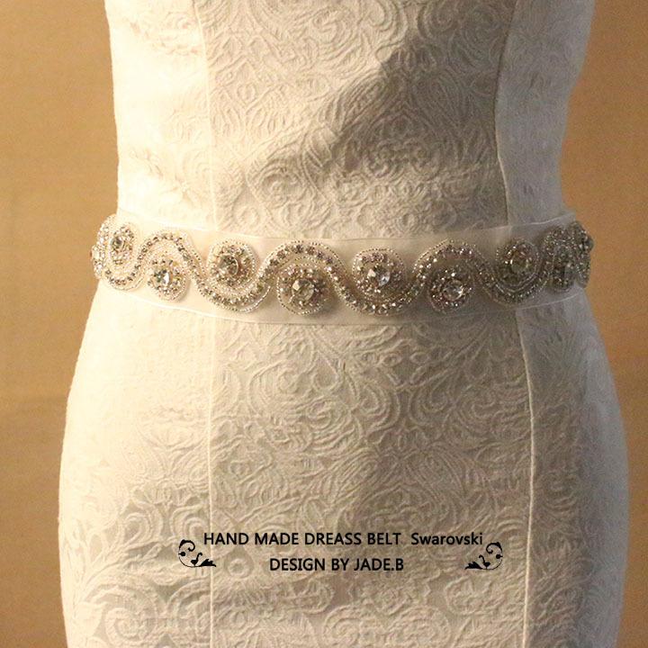 BOW-23 Bridal Wedding Formal Dress Luxurious Waistband Rhinestone Chain New Gorgeous Custom Rhinestone Belts Custom Diamond Belt(China (Mainland))