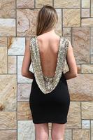 women summer dress 2014 desigual NEW ARRIVALS pre-sale fashion gold sequined halter Slim Party Dress dresses 3567