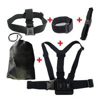 GoPro Accessories Chest Belt + WiFi Remote Wrist Belt + Head Strap Mount + Helmet Strap + Bag GoPro HD / Hero 3 / 2