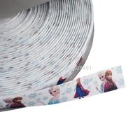 Frozen Printed Grosgrain Ribbon by the Yard 7/8 Elsa & Anna Winter Frozen Ribbon for Hair Bow DIY Polyester Bag Ribbon 50 yards
