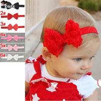 Children headwear Free shipping (5pcs/Lot) Lovely cute candy colors princess silk rose flowers bowknot girls headbands JF0153