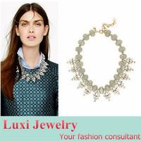 Fashion Rhinestone Stone Short Necklace European Brand Jewelry Chock Necklace&Pendant  Statement Jewelry for Women