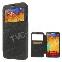 New Stylish For Samsung Galaxy Note 3 N9005 n9000 Cover for Galaxy Note 3 Mercury Goospery Wow View Window Folio Leather Lot