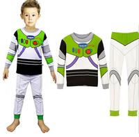 KNB Children Cartoon Pajamas Sets Long Sleeve Boys Sleepwear Suit 2pcs Baby Toddler Homewear Cotton Kid Clothes Set APS008