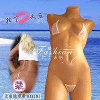 Erotic Women's Sexy Tiny Bikini Set Invisible Tape Transperant Bikini Swimwear Mini Micro Bikini  Brazilian G-String UD-086