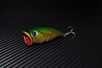 2014 new hot Free Shipping 9.9g/6.6cm 3pcs Hard Bait Crankbait Minnow Popper Topwater Fishing lures Bass Fresh Salt water