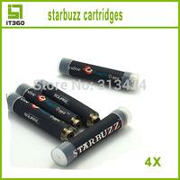 Hot starbuzz cartridges with 14 flavors starbuzz e hose cartridges e hookah electronic cigarette e-hose cartridges 4pcs/lot