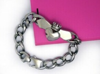 classic  titanium stainless stell vintage link bracelets fashion heart style alloy for woman man 1pc top quality classic