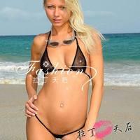 Erotic Women's Transparent Sexy Tiny Bikini Set Super Hot Bikini Swimwear Mini Micro Bikini  Brazilian G-String UD-092