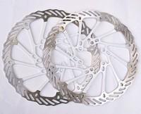 "1Pair  Newest AVID G3CS white bicycle brake disc Rotors MTB bike brake disc Rotors 160mm 6""  free shipping"