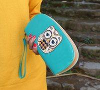 2014 Clutch  Cute Owl Women Purse Handbag Wallet  New Arrival Free Shipping