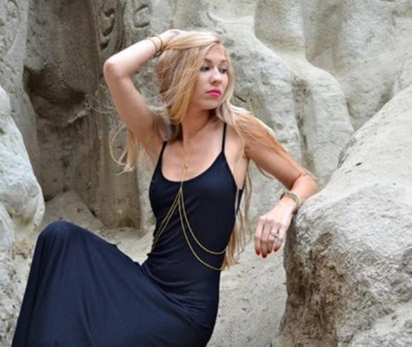 New Popular Nice Belly body chain golden sexy bikini waist chain body Jewelry