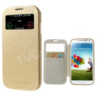 Mercury Wow View Window Leather + TPU Hybrid Case For Samsung Galaxy S4 SIV I9500 Cover for Galaxy S4 SIV Freeshipping