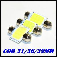 10X 31mm 36mm 39mm C5W Car led festoon light COB 12 chips Auto super bright COB Festoon MAP/DOME/INTERIOR LIGHTS