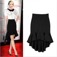 2014 New Arrival Spring And Summer Rumpet Mermaid Skirt For Women Ruffle Medium-Long Skirt Fish Tail Skirts