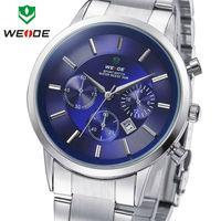 2014 New Sale WEIDE Watches Men Quartz Sports Watch Diver Luxury Brand Men Full Steel Wristwatches  #WH3312Blue