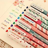 10PCS/Lot 10 Colors Pen New Cute Cartoon Colorful Gel Pen Kawaii material escolar papelaria Stationery School Office Supplies