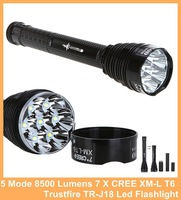 Trustfire TR-J18 Flashlight 5 Mode 8500 Lumens 7 X CREE XM-L T6 LED by 18650 or 26650 Battery Waterproof High Power Torch lamp
