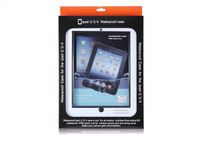Ewill/Free shipping Outerdoor Waterproof hard case for ipad 2/3/4 deep water waterproof tablet case 1PC MOQ