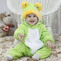 Spring new models wholesale baby clothes frog height simulation modeling Romper single
