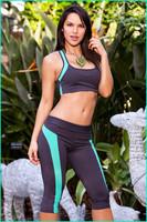 2014 New Fashion Brand Women's Legging Yoga pants Patchwork Fashion Pants Fitness Sports Legging Women's capris Sports Pants