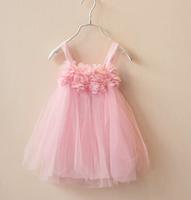 2014 girls clothing lace dress girl fresh spaghetti strap princess dress baby girl dress