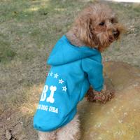New Pet Puppy Dog Cat Coat Clothes FBI Pattern Hoodie Sweater Costume Tops S-XXL