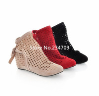 Free shipping,Hot!New Fashion arrival  boots women's cut-outs Boots , Spring and Summer short Boots , Inside High -heeled Shoes