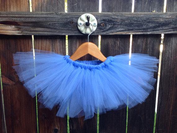 Medium Blue Tutu, Baby Tutu, Photo Prop Baby Girl Birthday Outfit New Born Girls Fluffy Skirt Toddler Tutus(China (Mainland))