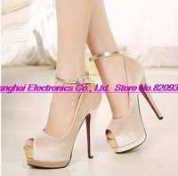 Spring shoes retro shoes sexy stiletto OL idyllic New Women's shoes
