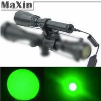 Zero Degrees Celsius Start Night Vision Green Laser Designator Flashlight Hunting Lights ND w 2 Ajustable Scope Mount 2 Switch