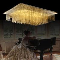 Minimalist modern crystal lamp ceiling lamp lighting living room rectangular special promotions led
