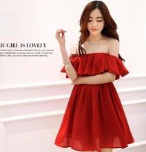 popular red tube dress