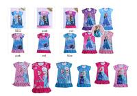 2014 Frozen dress Elsa night gown girls nighties Anna dresses
