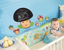 wholesale AY629 60x45cm Mushroom Head Blackboard Sticker Transparent Coating 20pcs Reusable Room Decor Advertising Board(China (Mainland))