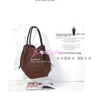 Ms. new Korean exports fringed shoulder bag straw bags