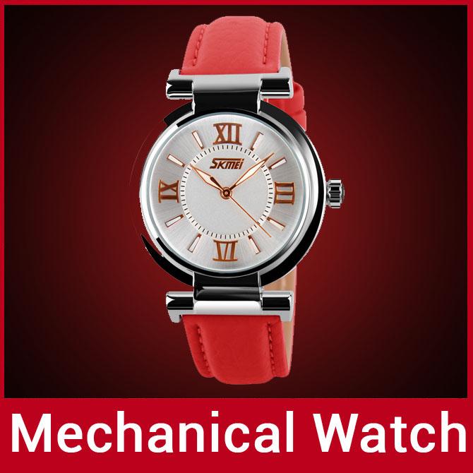 2014 de marque de mode bracelet en cuir véritable des femmes robe watch montre à quartz horloge pour la dame montre de sport affichage lumineux imperméable à l'eau