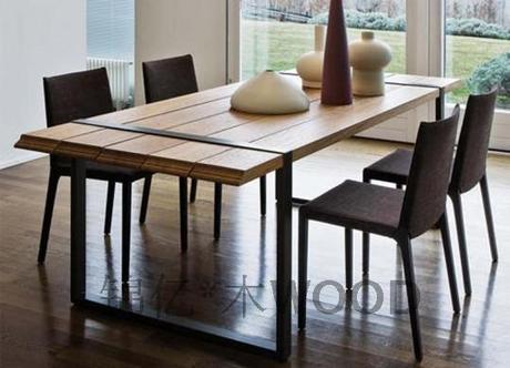 Salle manger bois et fer forge for Table salle a manger fer forge design