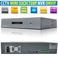 32 Channel Network Video Recorder 32CH NVR 720P 27CH NVR 960P 16CH NVR 1080P, Support 8*HDD