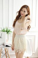 DS-S009 Women's elegant crochet summer skirt, soft lace skirt,  fashion A-line skirts, casual summer skirt, above knee length