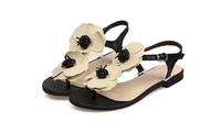Free shipping 2014 new summer women sandals  Flipflop womens sandals sweet flower flat shoes