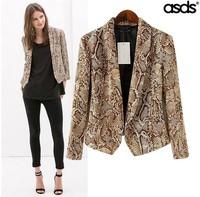 Retail 2014 New Fashion Print Ladies Blazer & Short Coat 14684
