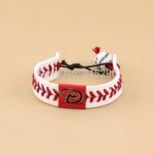 wholesale leather baseball bracelet