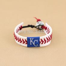 cheap leather baseball bracelet