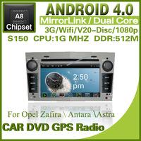 Pure Android 4.0 Car dvd for Opel Zafira Antara Astra with steering wheel Radio GPS Bluetooth dvd TV USB SD Free shipping 1249