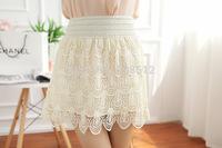 DS-S010 Summer women's SEXY crochet skirt, soft lace skirt,  fashion A-line skirts, casual summer skirt, above knee length