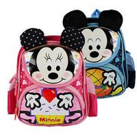 New Children School Bags Nylon Cute Cartoon Kindergarten Backpack Kids Bag Retail Free Shipping